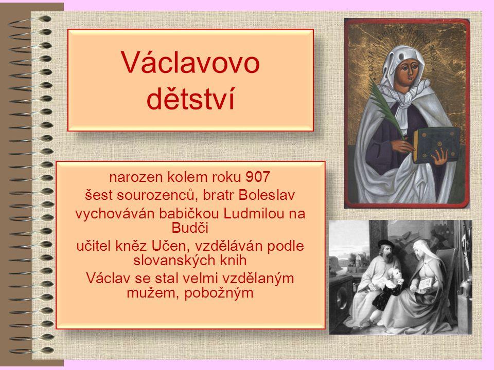 Václavovo dětství narozen kolem roku 907