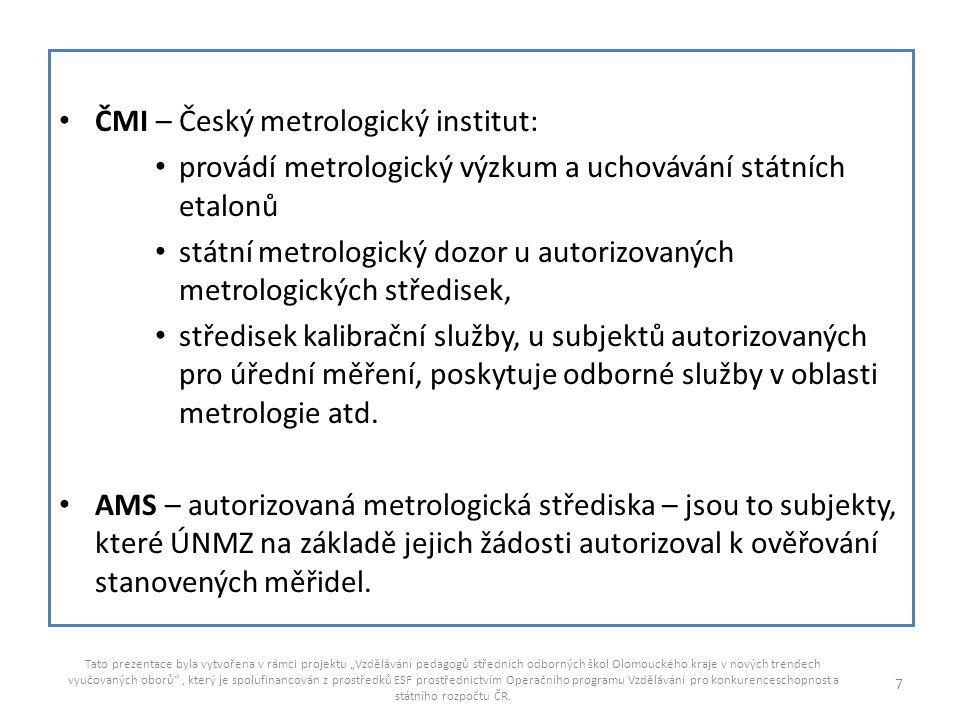 ČMI – Český metrologický institut: