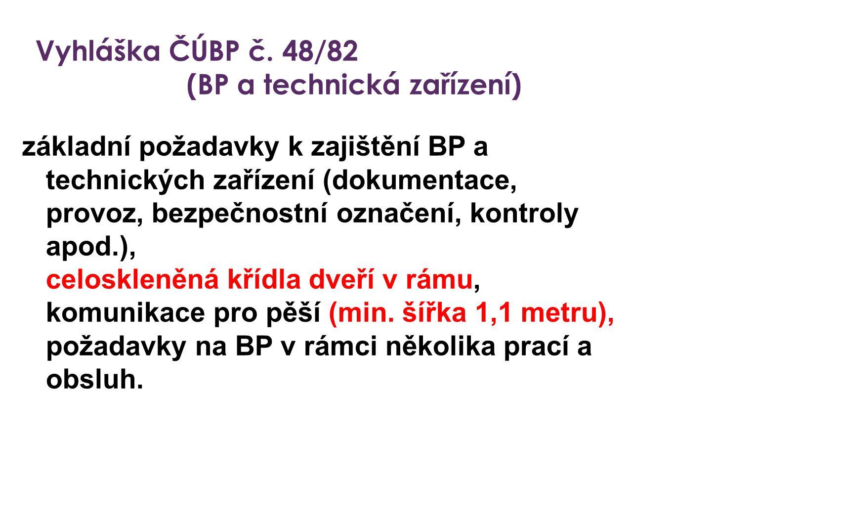(BP a technická zařízení)
