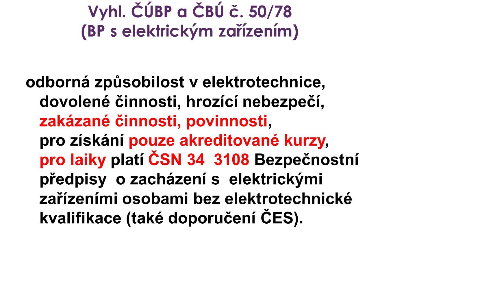 (BP s elektrickým zařízením)
