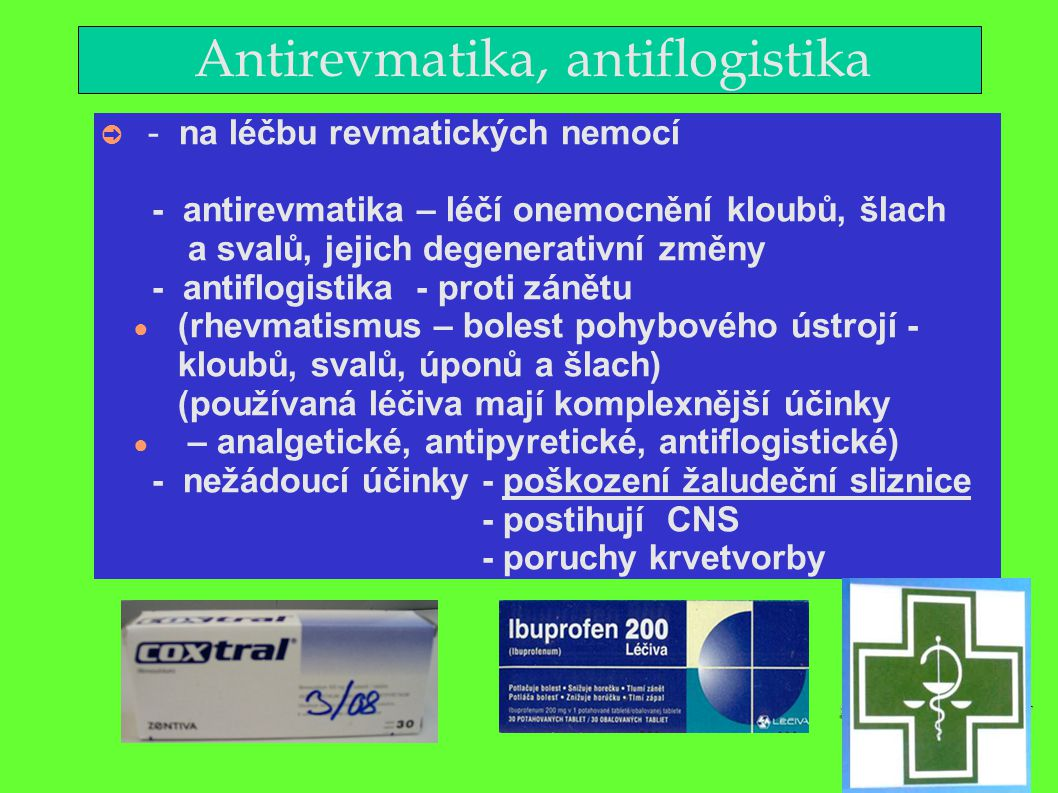 Antirevmatika, antiflogistika