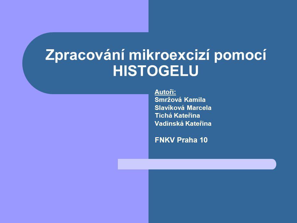 Zpracování mikroexcizí pomocí HISTOGELU