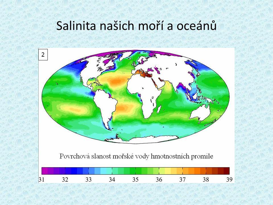 Salinita našich moří a oceánů