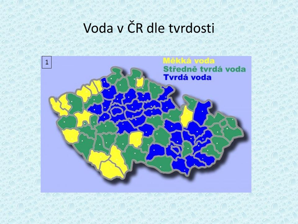Voda v ČR dle tvrdosti 1