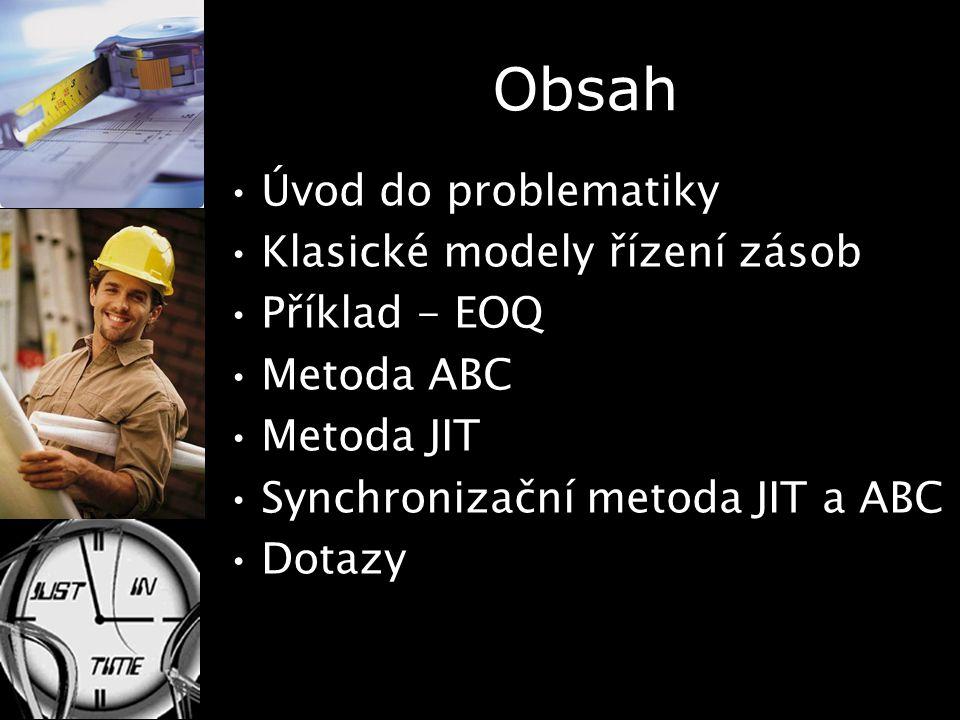 Obsah Úvod do problematiky Klasické modely řízení zásob Příklad - EOQ