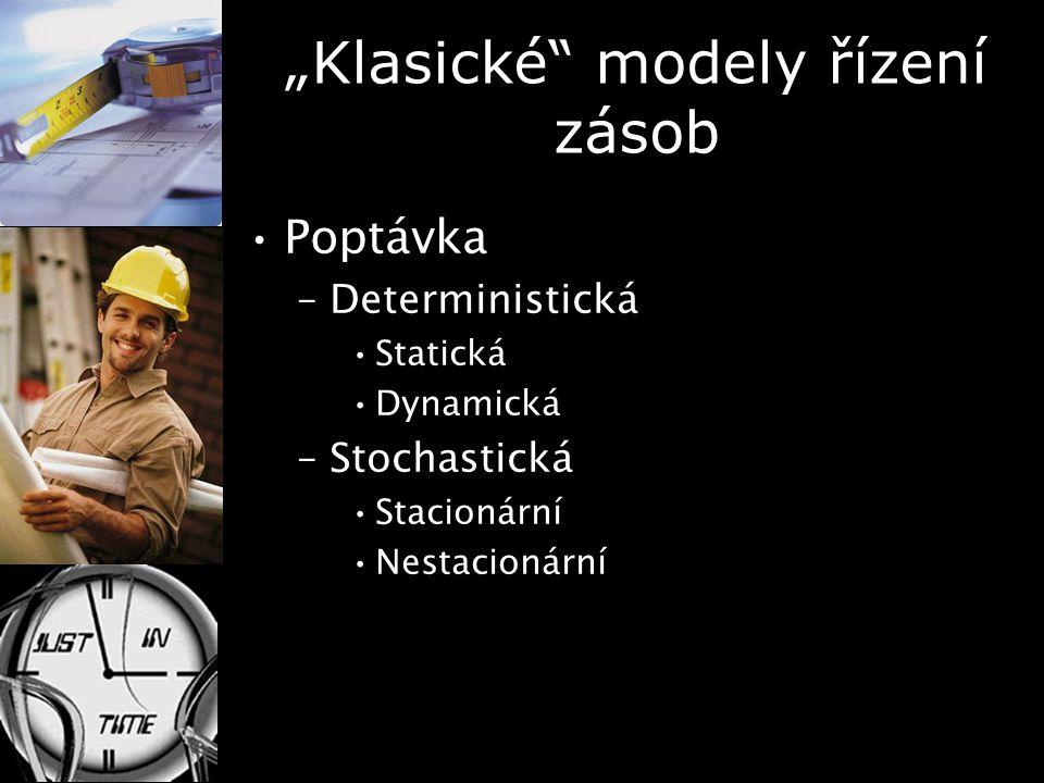 """""""Klasické modely řízení zásob"""