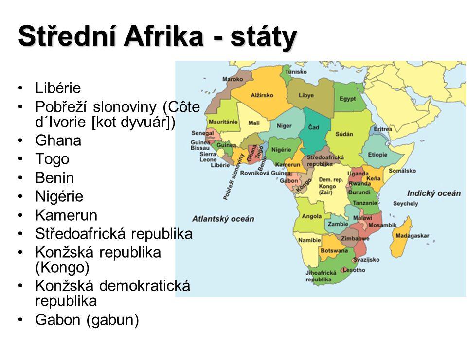 Střední Afrika - státy Libérie