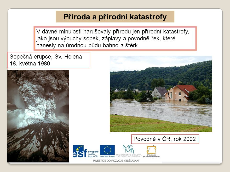 Příroda a přírodní katastrofy