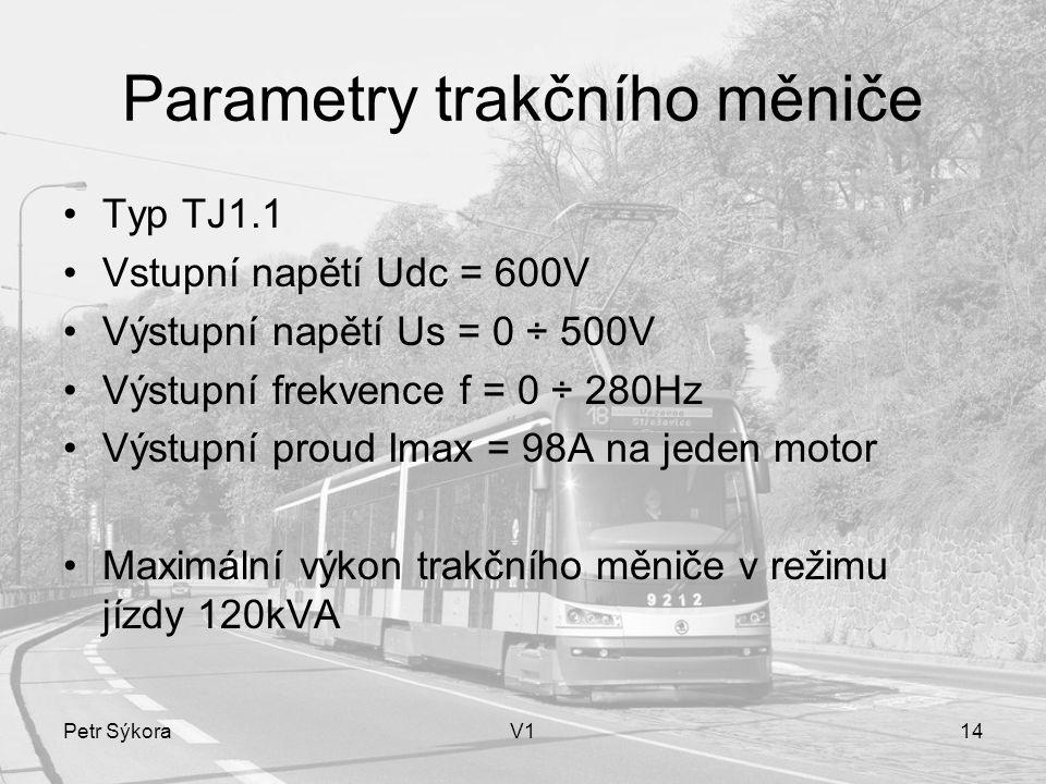 Parametry trakčního měniče