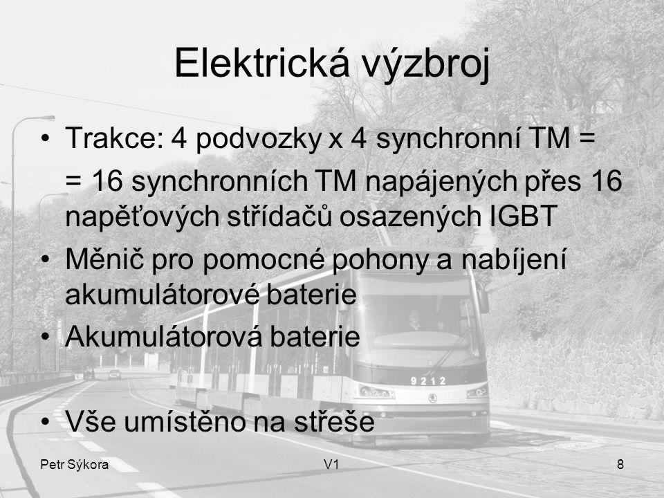Elektrická výzbroj Trakce: 4 podvozky x 4 synchronní TM =