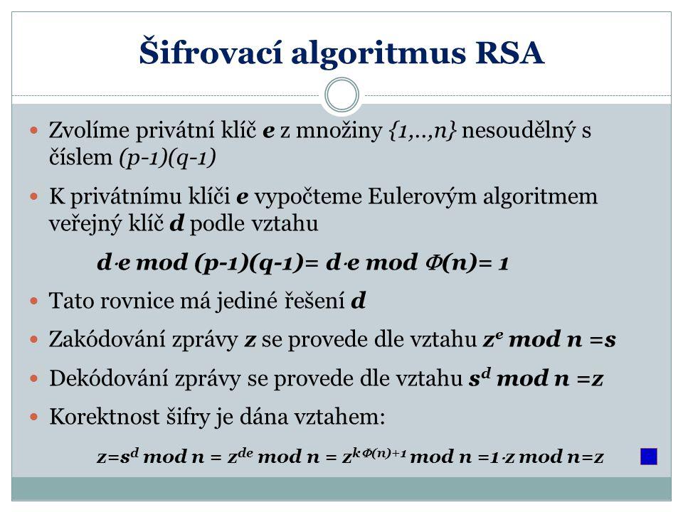 Šifrovací algoritmus RSA