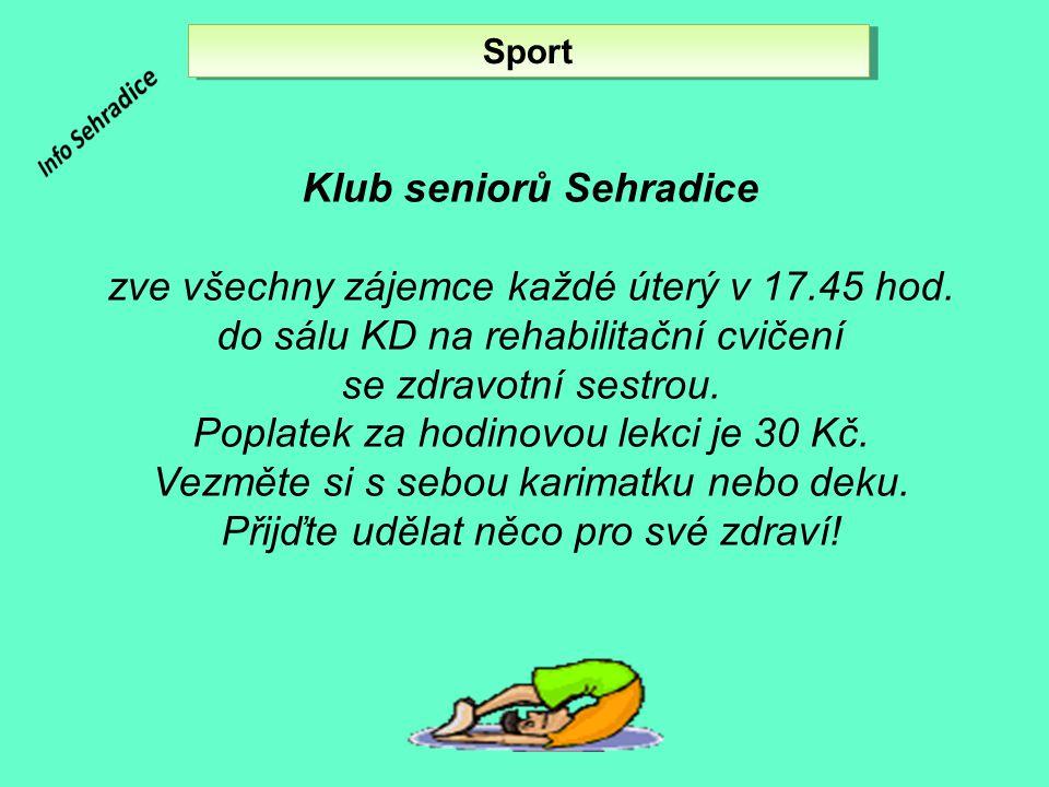 Klub seniorů Sehradice