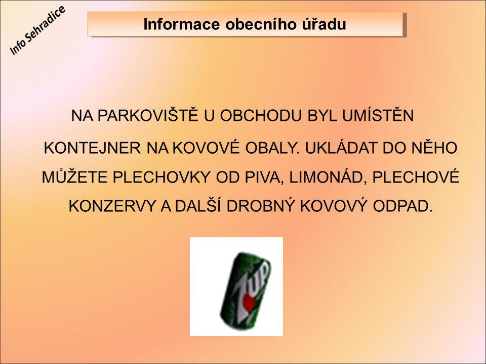 Informace obecního úřadu