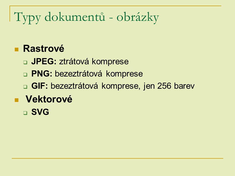 Typy dokumentů - obrázky