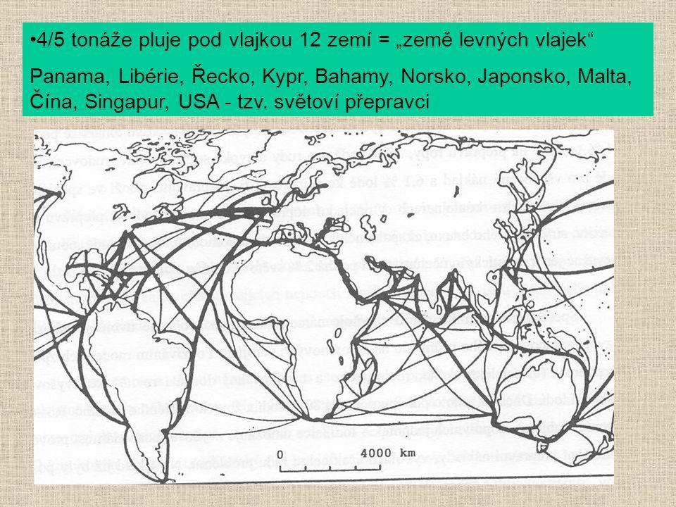 """4/5 tonáže pluje pod vlajkou 12 zemí = """"země levných vlajek"""