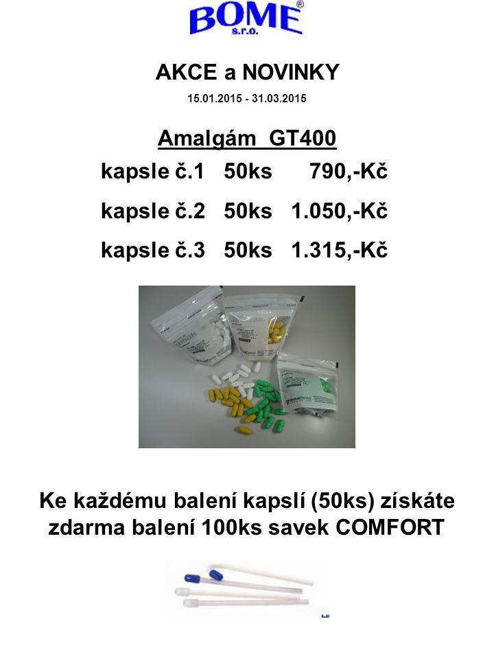 AKCE a NOVINKY Amalgám GT400 kapsle č.1 50ks 790,-Kč
