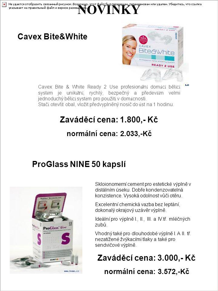 NOVINKY Cavex Bite&White Zaváděcí cena: 1.800,- Kč