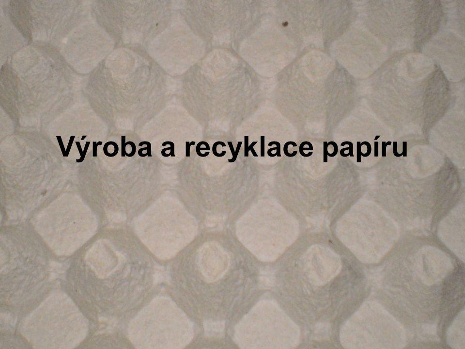 Výroba a recyklace papíru