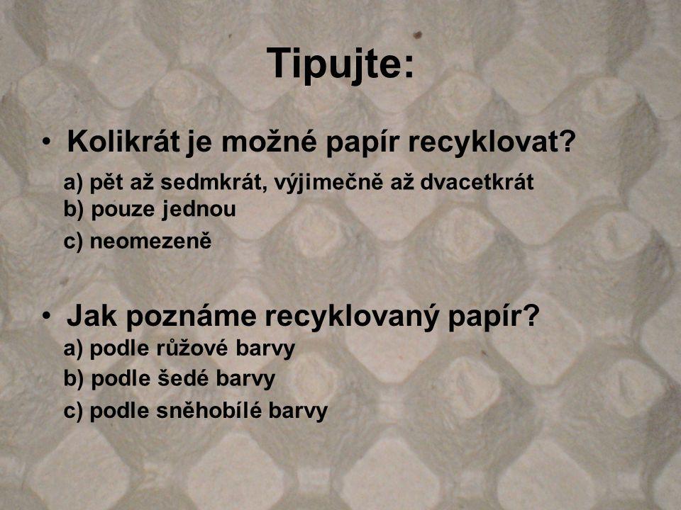 Tipujte: Kolikrát je možné papír recyklovat