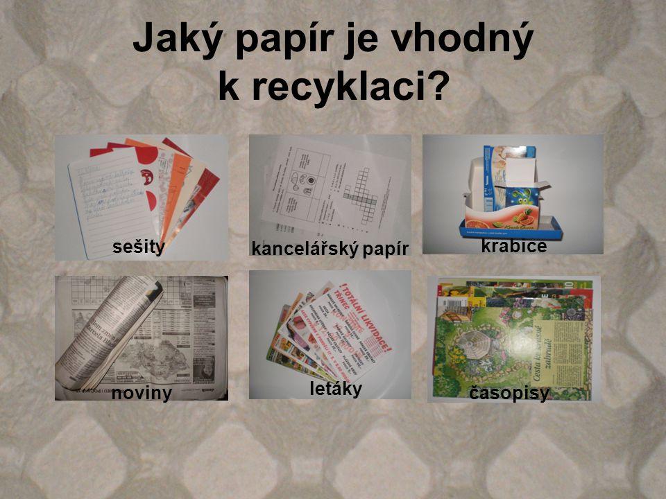 Jaký papír je vhodný k recyklaci