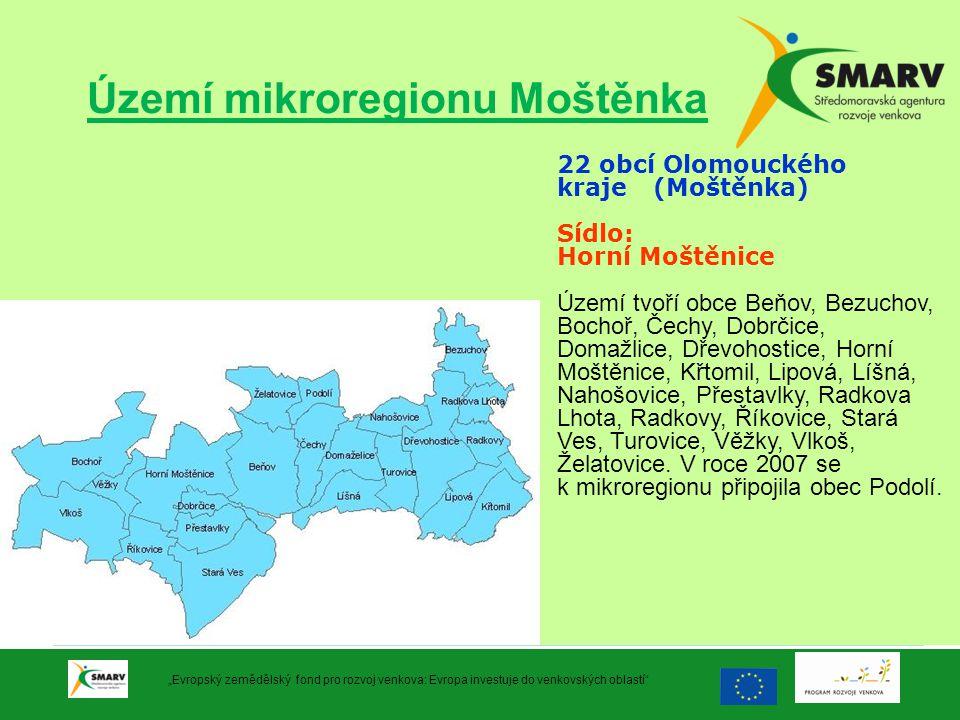 Území mikroregionu Moštěnka