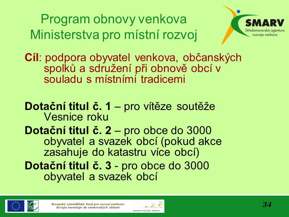 Program obnovy venkova Ministerstva pro místní rozvoj