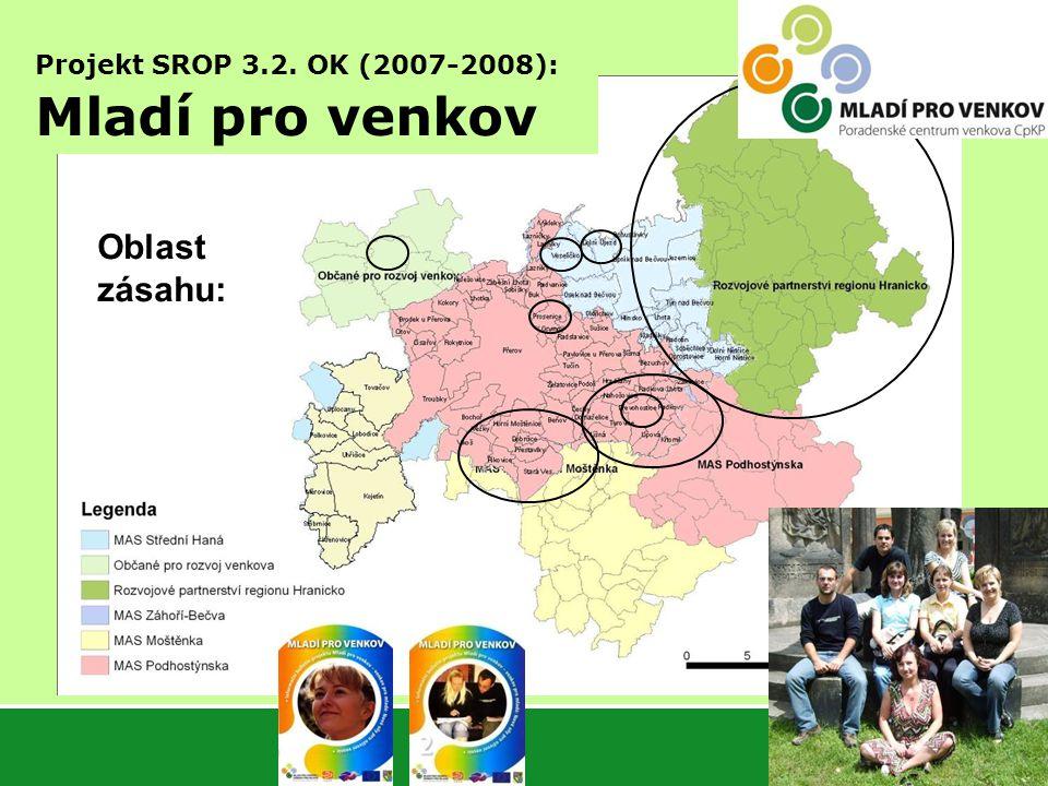 Projekt SROP 3.2. OK (2007-2008): Mladí pro venkov