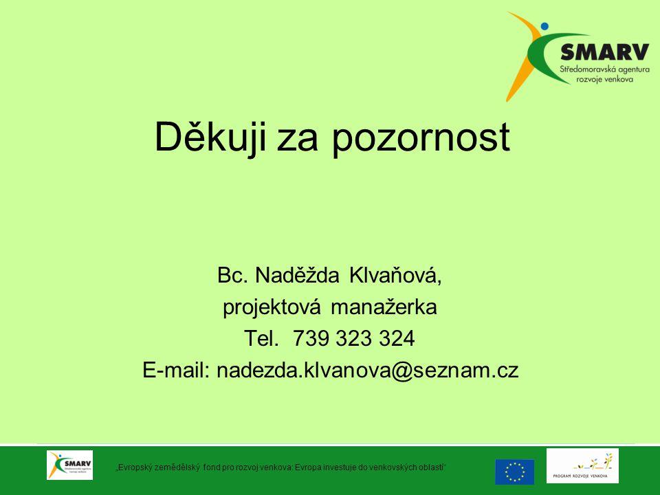 E-mail: nadezda.klvanova@seznam.cz