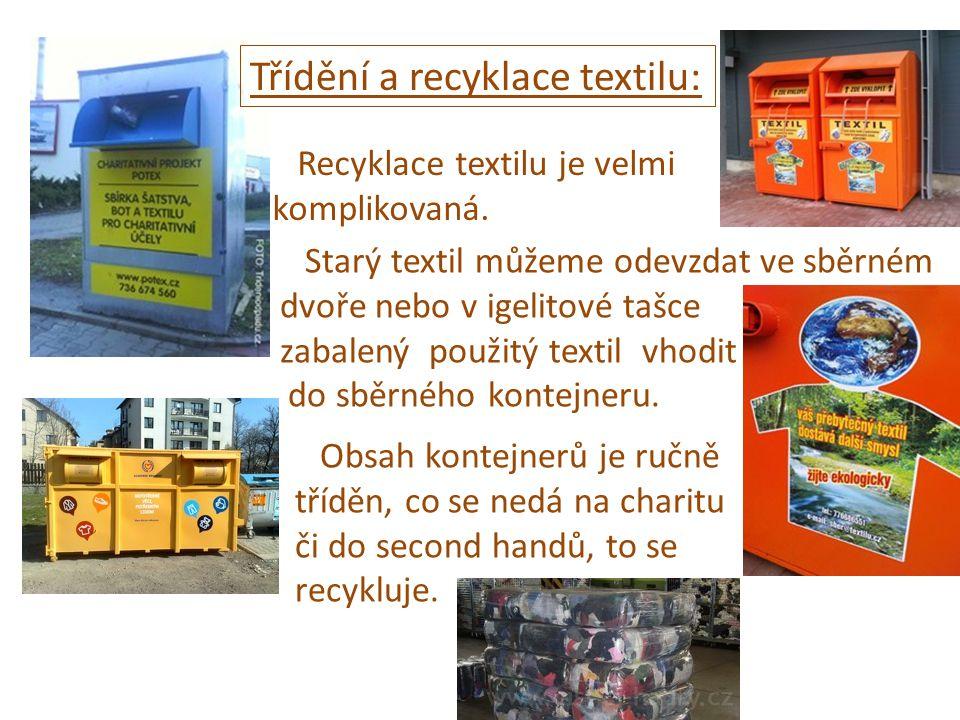 Třídění a recyklace textilu:
