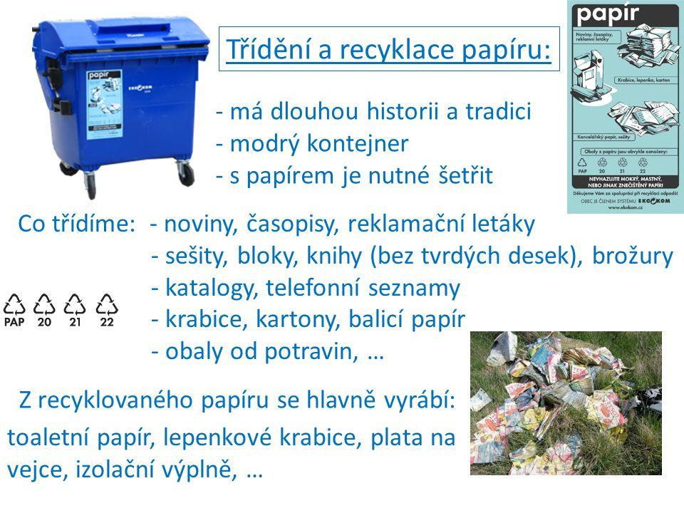Třídění a recyklace papíru: