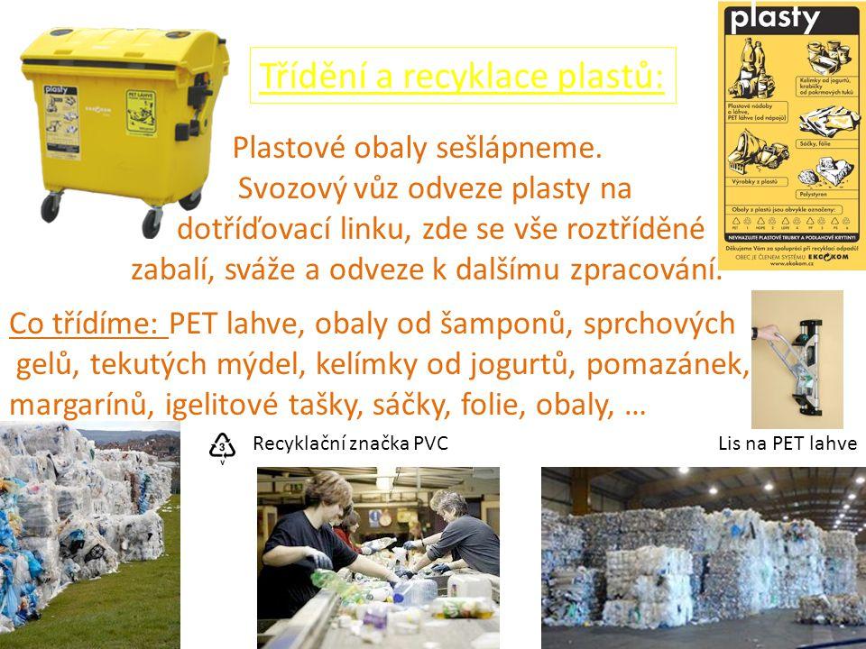 Třídění a recyklace plastů: