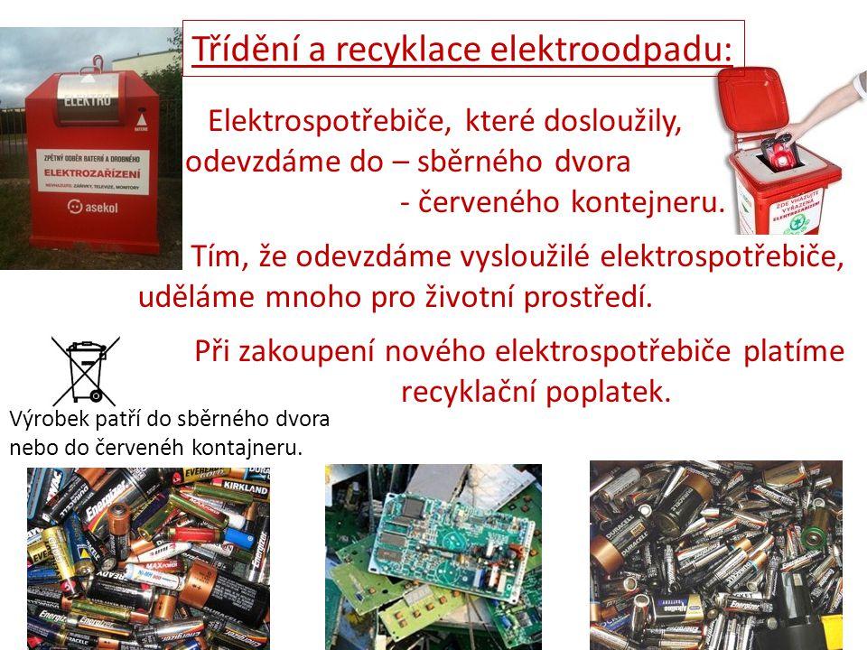 Třídění a recyklace elektroodpadu: