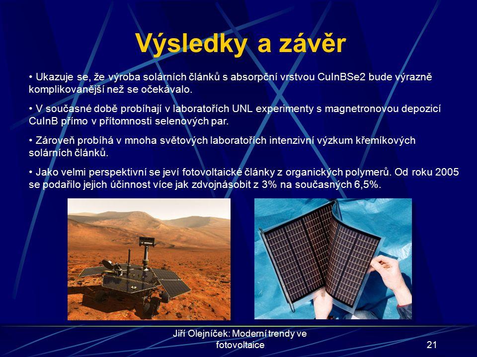 Jiří Olejníček: Moderní trendy ve fotovoltaice