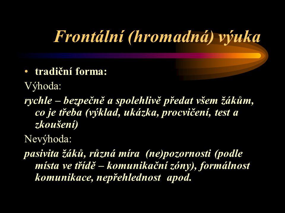 Frontální (hromadná) výuka