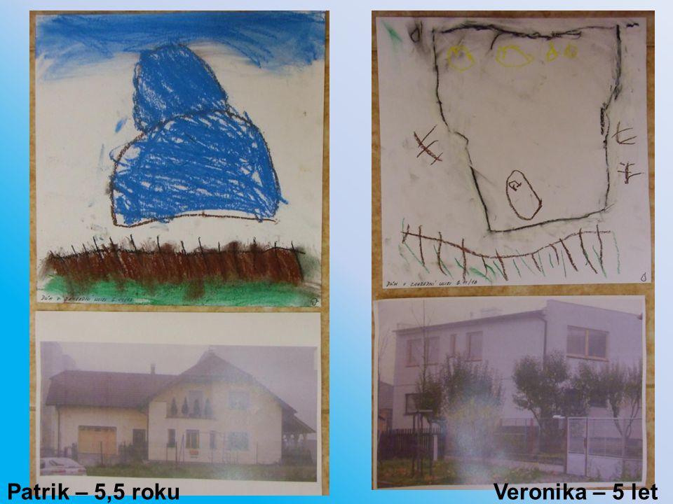 Patrik – 5,5 roku Veronika – 5 let