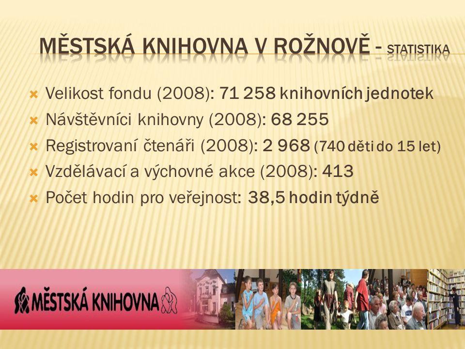 Městská knihovna v Rožnově - statistika