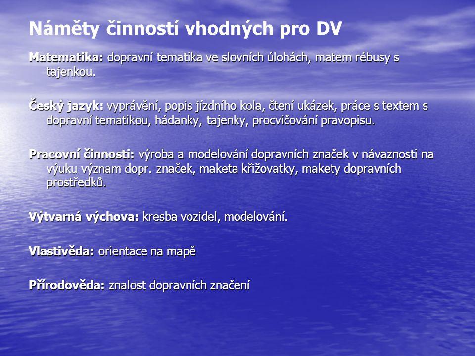 Náměty činností vhodných pro DV