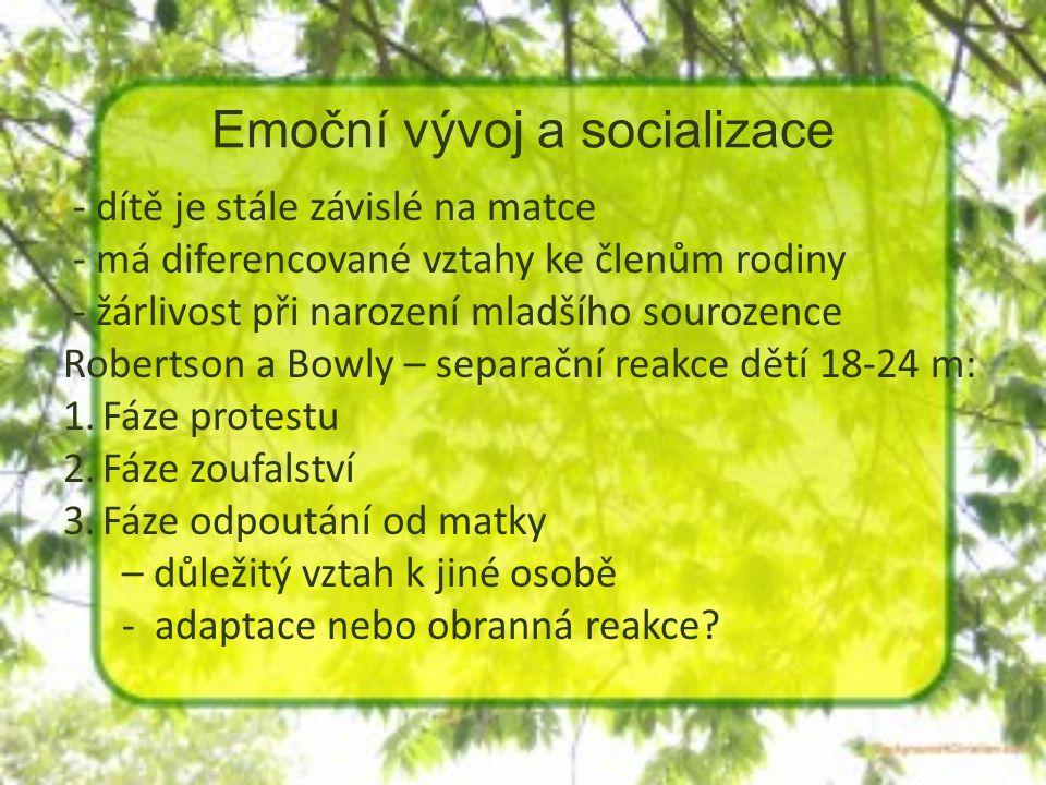 Emoční vývoj a socializace