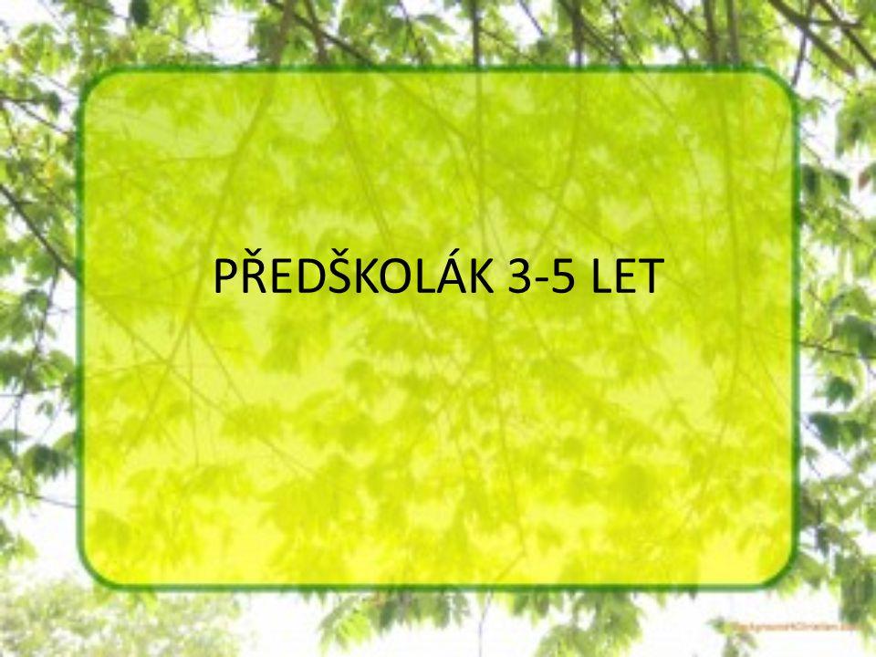 PŘEDŠKOLÁK 3-5 LET