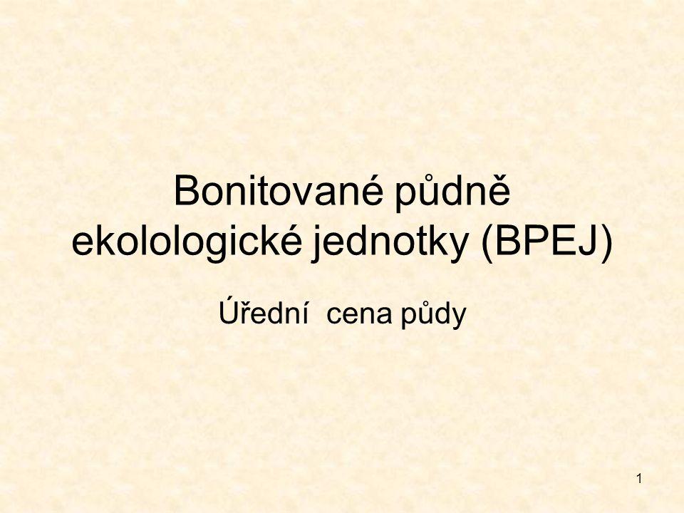 Bonitované půdně ekolologické jednotky (BPEJ)