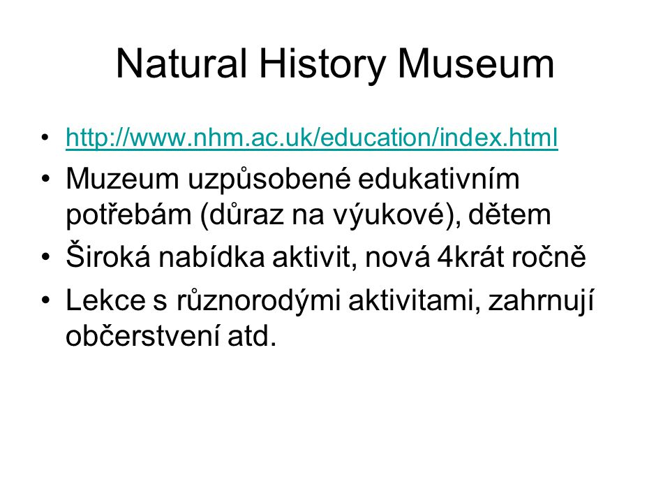 Natural History Museum
