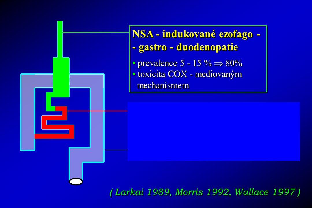 NSA - indukované ezofago - - gastro - duodenopatie