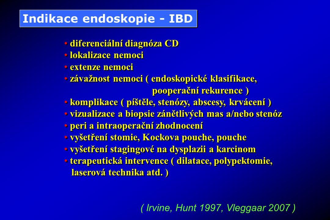 Indikace endoskopie - IBD