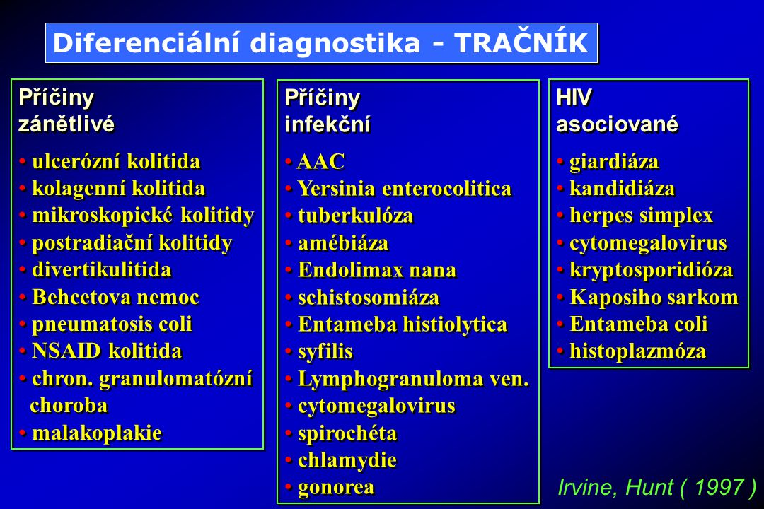 Diferenciální diagnostika - TRAČNÍK
