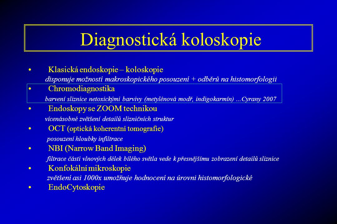 Diagnostická koloskopie