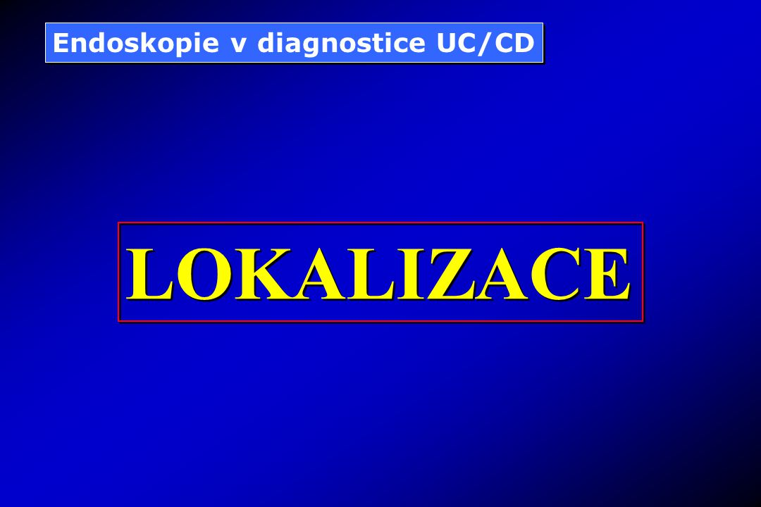 Endoskopie v diagnostice UC/CD