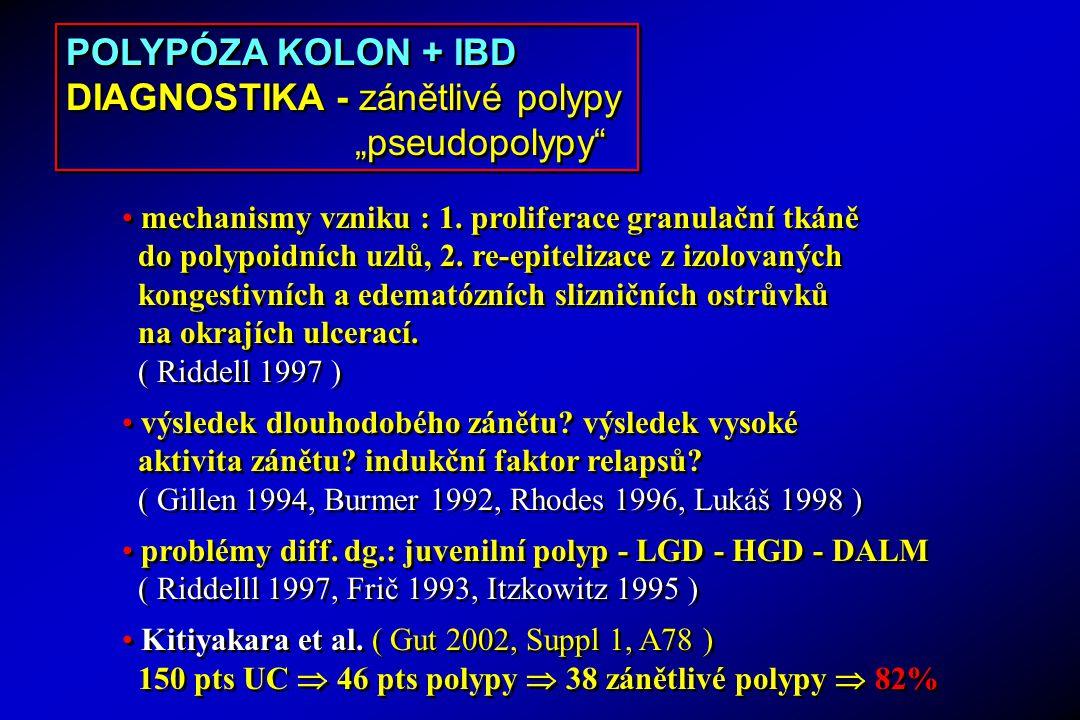 """DIAGNOSTIKA - zánětlivé polypy """"pseudopolypy"""