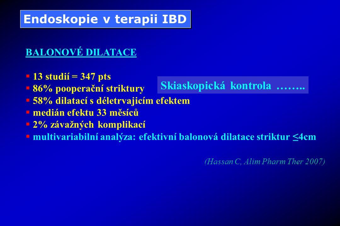 Endoskopie v terapii IBD