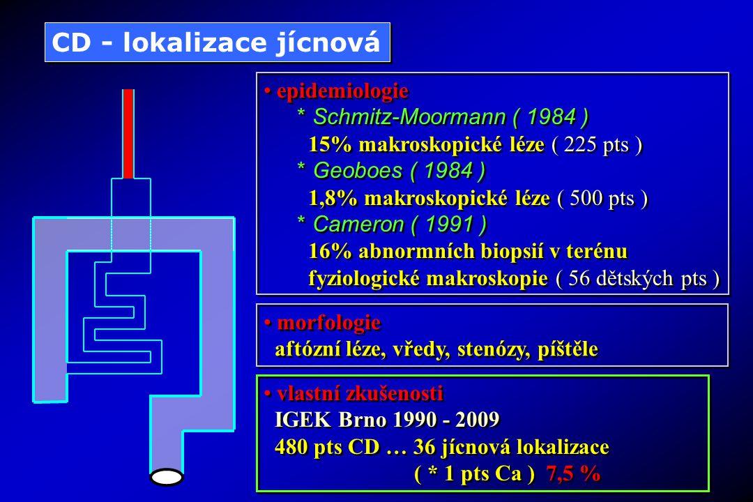 CD - lokalizace jícnová