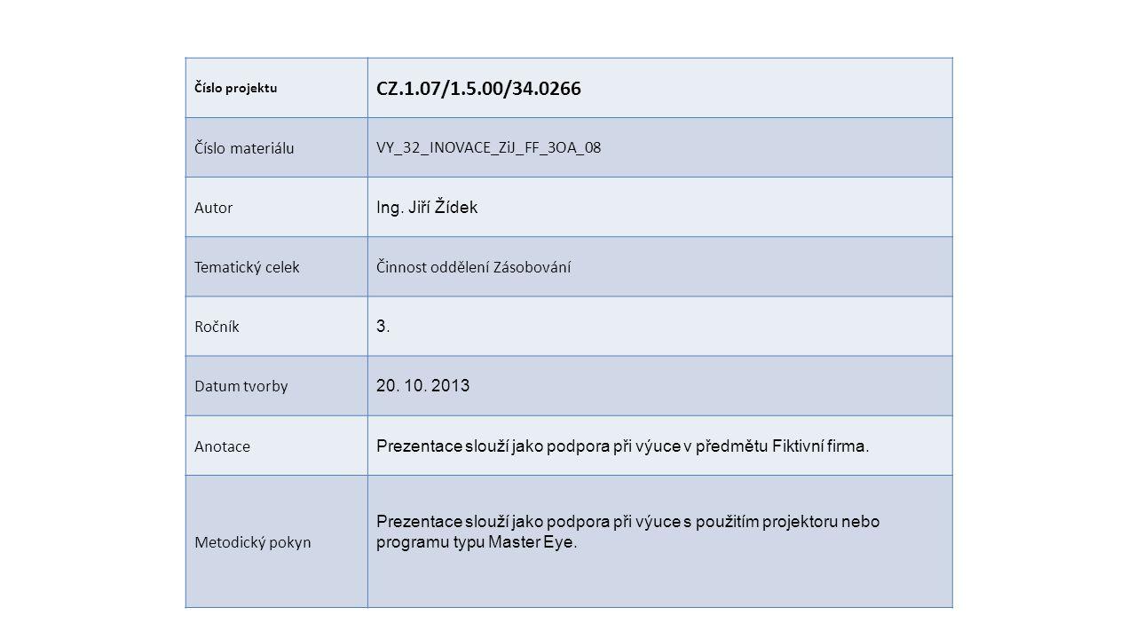 CZ.1.07/1.5.00/34.0266 Číslo materiálu VY_32_INOVACE_ZiJ_FF_3OA_08